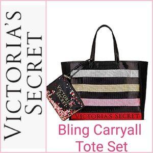 🆕️ Victoria's Secret Bling Sequin Carryall Set